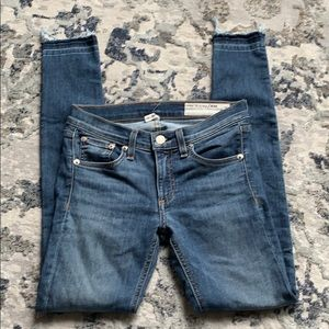 Rag &Bone Blue Ankle Skinny Denim Jeans Size 25